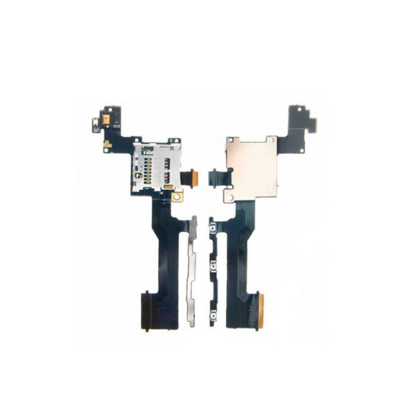 Power On Off Volume Button Switch Flex Cable With SD Card Reader For HTC M9-1