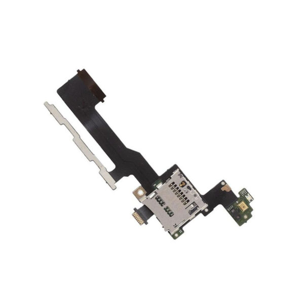 Power On Off Volume Button Switch Flex Cable With SD Card Reader For HTC M9
