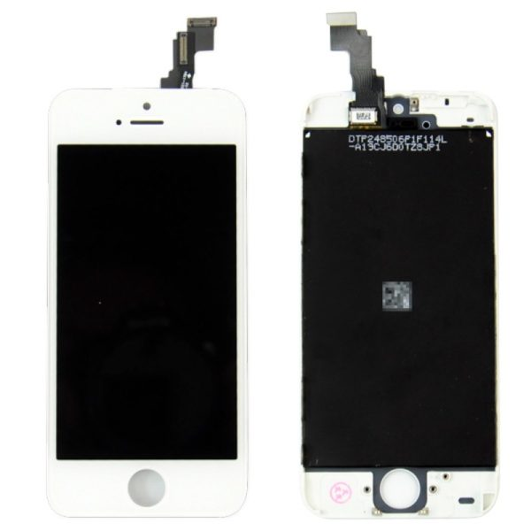 iPhone-5C-LCD-touch-screen-digitizer-assembly-and-frame-White-Free-Tool-Kit