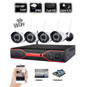 4CH Wireless WIFI 720P CCTV IP Camera Security HDMI DVR NVR System Night Vision