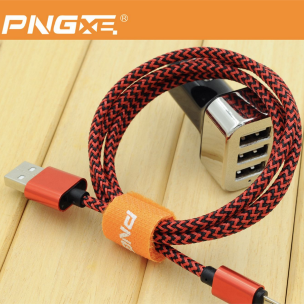 PNG Nylon Braided Lightning Sync Cable USB Charger iPhone 5 6 7 iPads 3 4-2