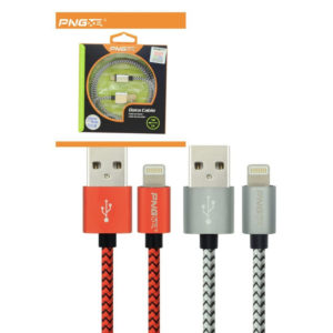 PNG Nylon Braided Lightning Sync Cable USB Charging Cable Samsung Phones
