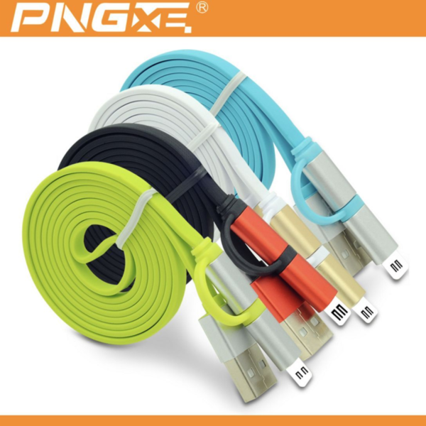 PNGXE 2 in 1 usb multi Charging & Sync Data Micro USB Cable For Apple, Samsung
