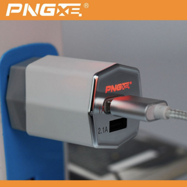 PNGXE Dual USB Wall Charger With LED