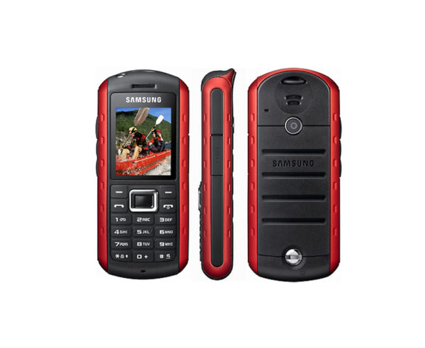 New Condition Samsung Solid Extreme B2100 Modern Black-Red Unlocked Mobile Phone-1