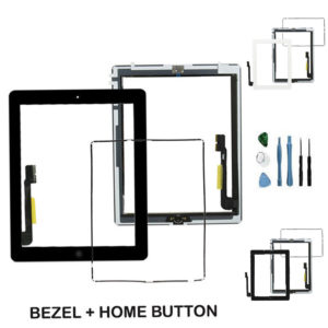 Apple iPad 3 Touch Screen Digitizer Assembly with Home Button with Bezel