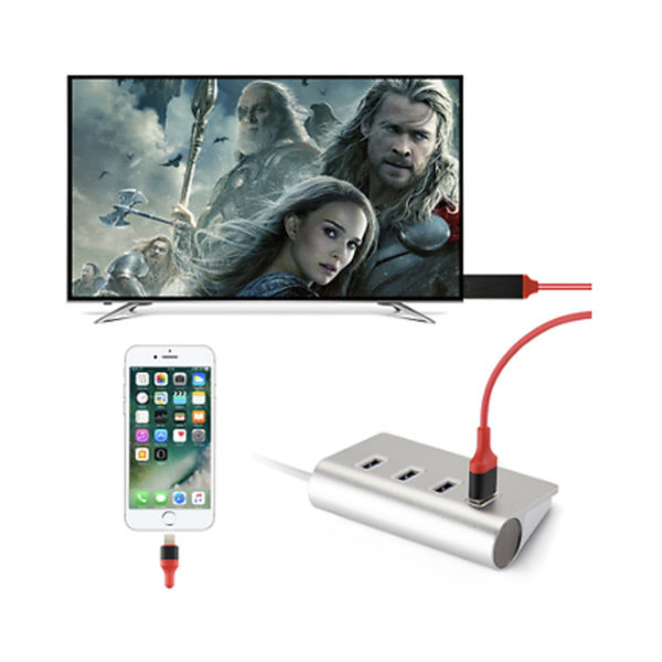 2M Lightning Connect To HDMI TV AV Cable Adapter For Apple  iPhone & iPad