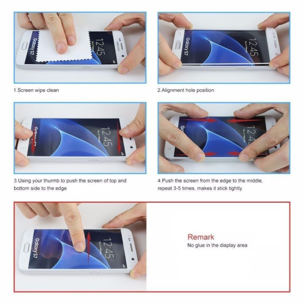 High Quality 3D Tempered Glass Screen Protector For Samsung S7-8