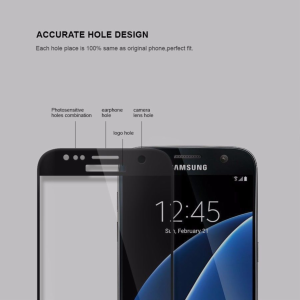 High Quality 3D Tempered Glass Screen Protector For Samsung S7-9
