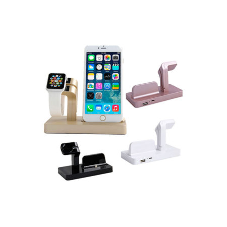Charging Cradle Mount Station For Apple Watch & iPhone