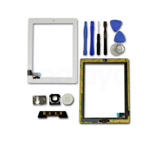 FOR-IPAD-2-WHITE-REPLACEMENT-LCD-SCREEN-TOUCH-DIGITIZER-FRONT-GLASS-Home-Button