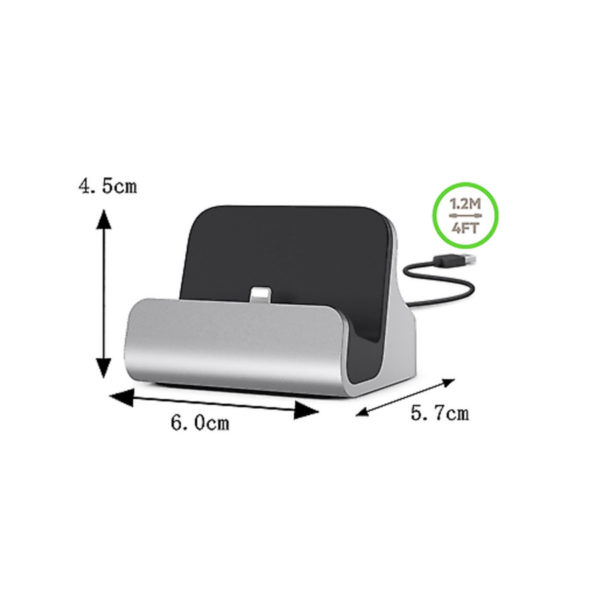 Charging Dock Cradle Sync Data Base Charger For Apple iPhones