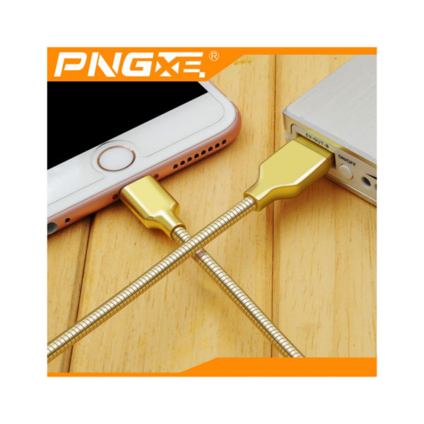 PNG Metal Spring Fast Charging USB Charger Cable For iPhone & iPads