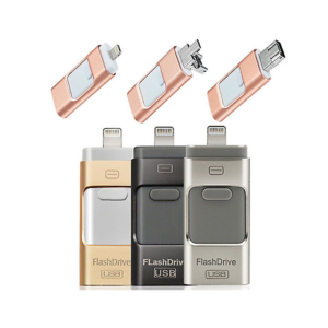 USB Flash Drive 3 IN 1 Dual Storage Memory Stick for iPhone IOS Android Windows