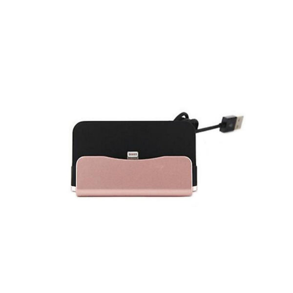 Universal Micro USB Charging Dock Stand  Sync Charger Rose Gold For Android
