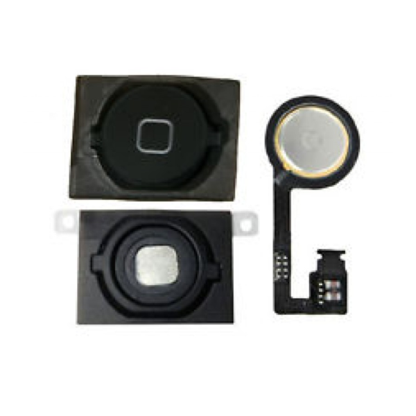 iPhone 4S Home Button with Rubber, Metal Spacer and Flex