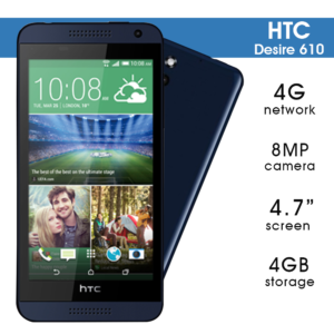 HTC Desire 610, 8GB, 4G Android Smartphone (unlocked)
