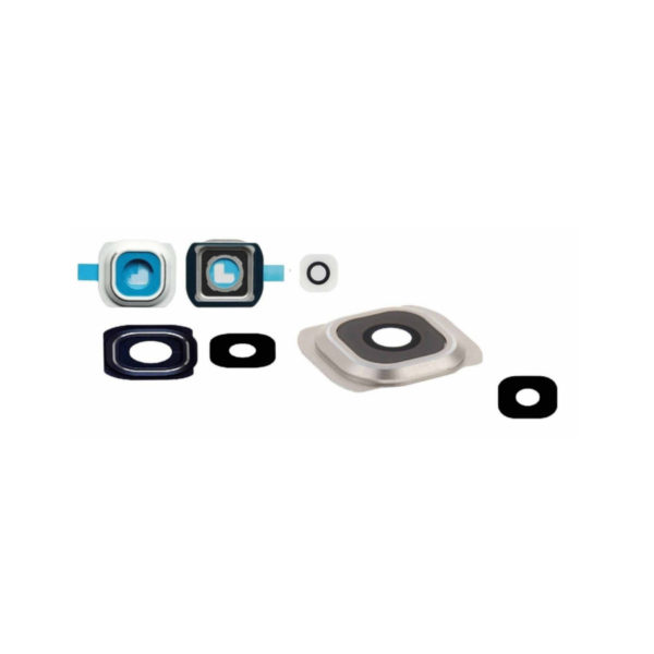 Glass Camera Lens Cover Frame For Samsung Galaxy S6 & Adhesive Part