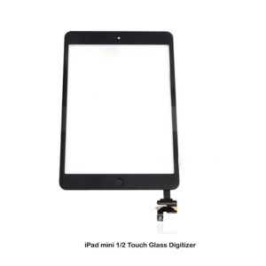 Black iPad mini 1/2 Touch Glass Digitizer Screen Replacement IC Home Button