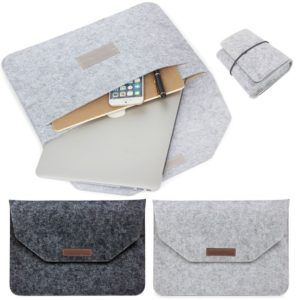 "Wool Felt Laptop  Sleeve Cover Bag Case For MacBook Air Pro Retina 11"", 13"" & 15"""