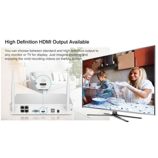 4CH Wireless 960P HDMI NVR Outdoor HD IP Camera KIT CCTV Security System