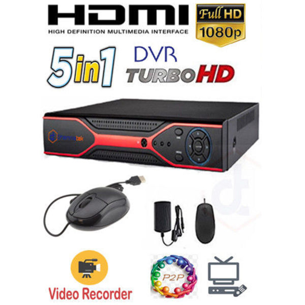 5 IN 1 DVR 4/8/16 CH Camera Video Recorder HDMI P2P Turbo HD 1080P TVI AHD