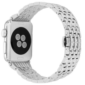 Stainless Steel Rhinestone Strap for Apple Watch series 1/2/3 38/42mm