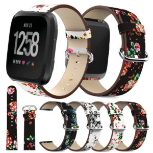 Flower Colorful Leather Watch Band Strap for Apple Watch Series 1/2/3 38/42mm