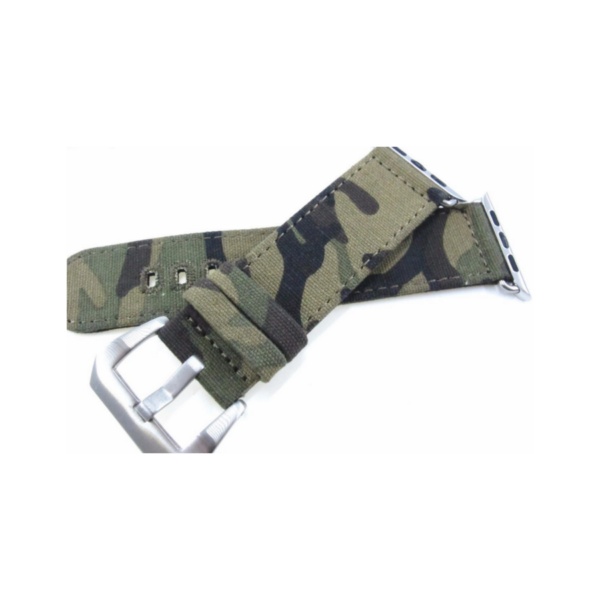 Camouflage Canvas Strap Band Sports Army Military for Apple Watch 38/42 mm