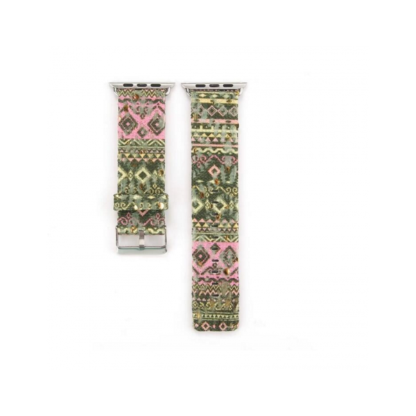 Variation-of-PU-Leather-Loop-amp-Border-style-straps-For-iWatch-Series-1-2-Band-42mm-amp-38mm-282624669776-0ba1green-pink