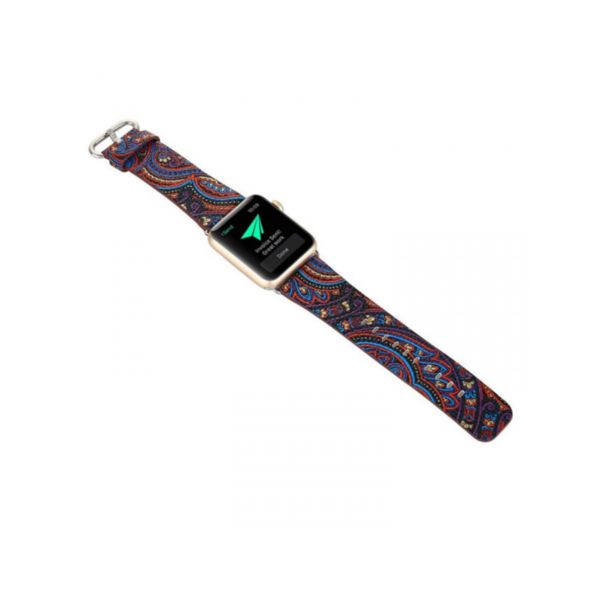 Variation-of-PU-Leather-Loop-iwatch-National-style-straps-For-Apple-Watch-Band-42mm-amp-38mm-black-blue