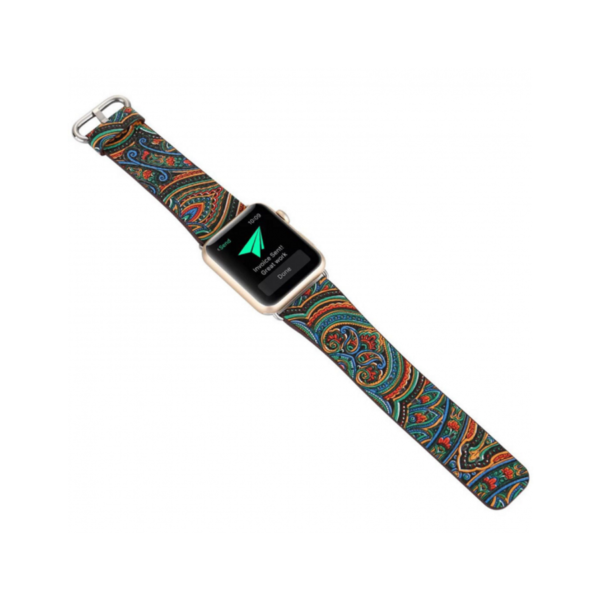 Variation-of-PU-Leather-Loop-iwatch-National-style-straps-For-Apple-Watch-Band-42mm-amp-38mm-black-green-yellow