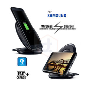 Qi Wireless Fast Charger Charging Pad Stand Dock for Samsung Galaxy S7, S8 and iPhone 8, X