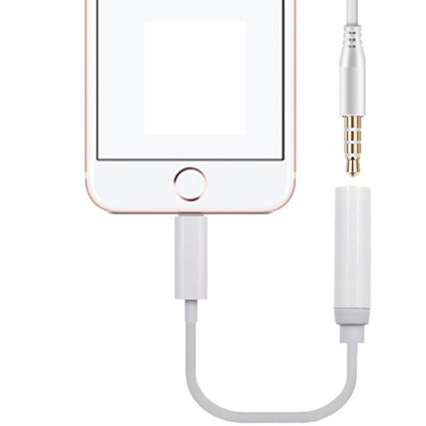 Lightning to 3.5mm Aux Headphone Jack Audio Adapter Cable For iphone 7 7plus 8 8
