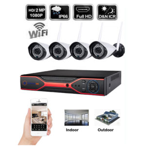 1080P 4 CH Wireless CCTV IP Camera Security HDMI DVR NVR System KIT Night Vision