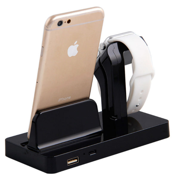 Charging Stand Mount Cradle Station Dock for Apple Watch and iPhone 6 6s 5 7