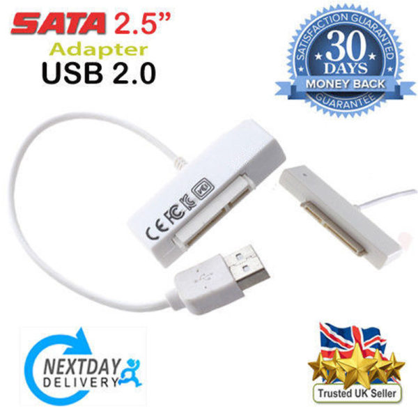 USB 2.0 To SATA 7+15 Pin 22 Pin Adapter For 2.5 Inch HDD Laptop Hard Disk Drive