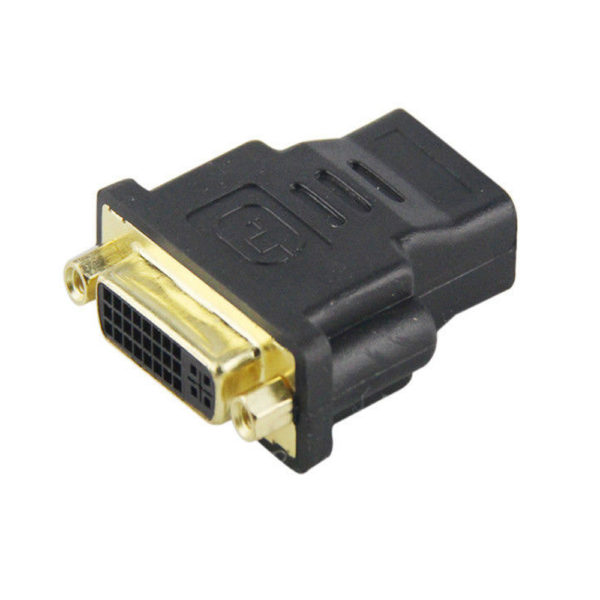 DVI-I MALE TO HDMI FEMALE ADAPTER CONNECTOR CONVERTER Gold Plated (24)