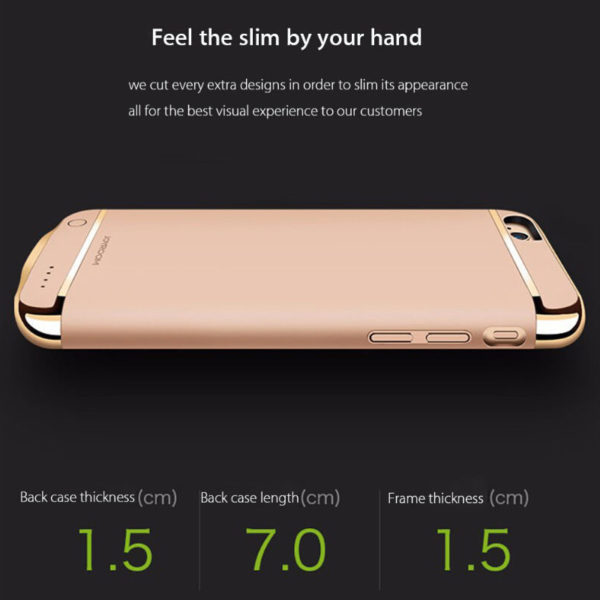 Power Bank Battery Backup Case Charger Cover for iPhone 6/6 Plus 7/7 Plus