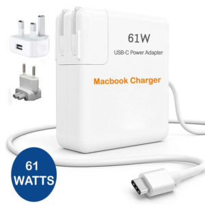 61W Power Adapter Charger For Apple Macbook USB-C Type C Cable Power Supply