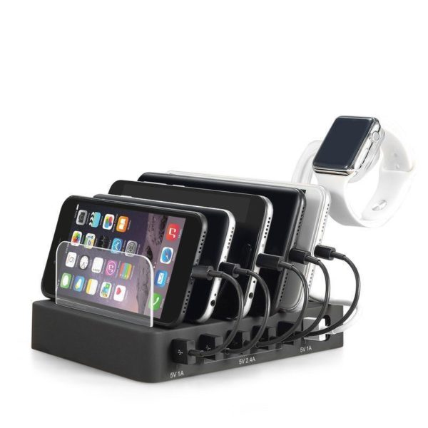 6 Multi Port USB Hub Charger Charging Dock Station Stand 60W 12A Tablet & Phones