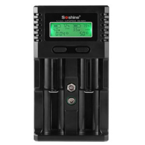 Soshine H2 Intelligent Battery Charger with 2 Slot LCD Display Car Charger UK