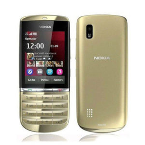 Nokia Asha 300 5MP Tocuh & Type 3G Gold Unlocked Phone