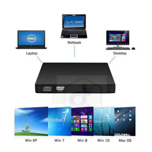 External Slim USB 2.0 DVD-RW DVD Writer Drive Burner for PC Mac Laptop Portable