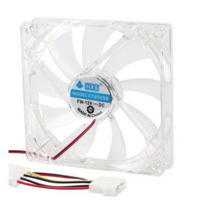 Blue LED PC 1x 2x 3x 120mm Cooling Fan CPU Coolers Quiet High Airflow