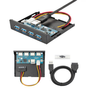 Front Panel USB 3.0 3.5 Inch 4-Port USB HUB With 15 Pin SATA Power For Computer