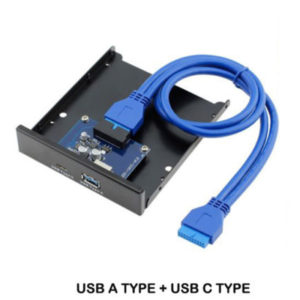 Front Panel USB 3.0 + USB 3.1 Type C 2.5 Inch Front Panel with 20Pin for Laptop