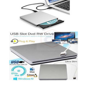 USB External Slot DVD CD RW Hard Drive Disc Burner Player Macbook Pro Air iMac
