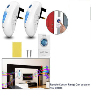 Range Twin Plug In Wireless Cordless Digital Chime Door Bell 38 Melodies 150M UK