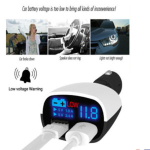 Car Charger Dual USB Plug Adapter Cigarette Lighter LED For All iPad Tablet